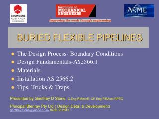 The Design Process-Boundary Conditions Design Fundamentals-AS2566.1 Materials Installation AS 2566.2 Tips, Tricks Trap