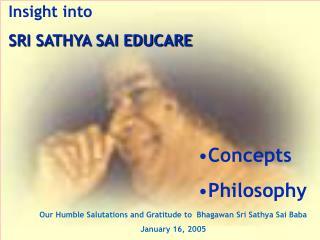 Understanding into SRI SATHYA SAI EDUCARE
