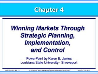 Winning Markets Through Strategic Planning, Implementation, and Control