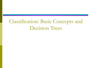 Order: Basic Concepts and Decision Trees