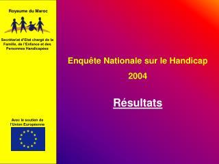 Enqu te Nationale sur le Handicap 2004