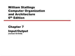 William Stallings Computer Organization and Architecture sixth Edition