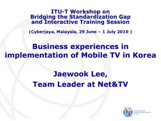Business encounters in execution of Mobile TV in Korea
