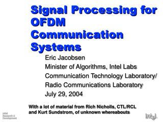 Sign Processing for OFDM Communication Systems