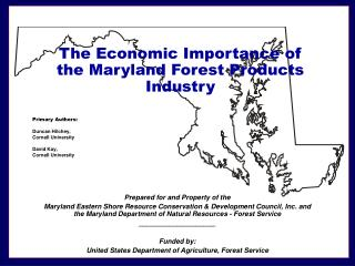 The Economic Importance of the Maryland Forest Products Industry