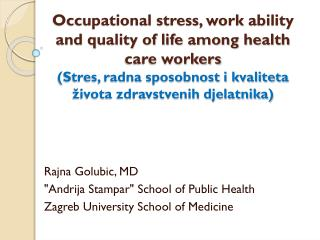 Word related anxiety, work capacity and personal satisfaction among social insurance laborers Stres, radna sposobnost i