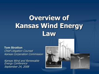 Diagram of Kansas Wind Energy Law