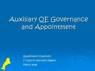 Assistant QE Governance and Appointment