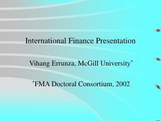 Worldwide Finance Presentation