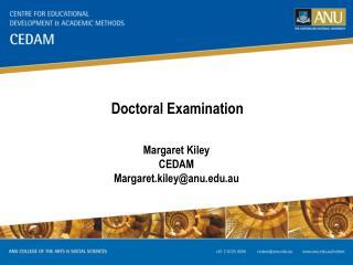Doctoral Examination