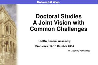 Doctoral Studies A Joint Vision with Common Challenges