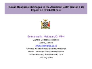 Human Resource Shortages in the Zambian Health Sector its Impact on HIV