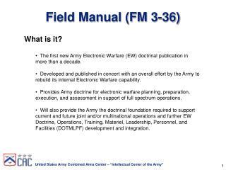 Field Manual FM 3-36