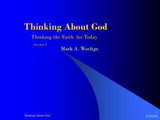 Considering God