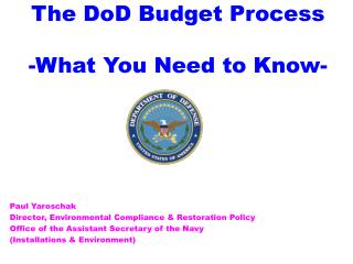 The DoD Budget Process - What You Need to Know-