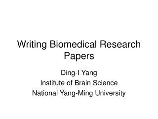 Composing Biomedical Research Papers