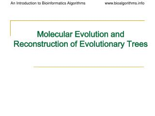 Atomic Evolution and Reconstruction of Evolutionary Trees