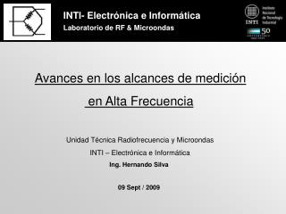 INTI-Electr nica e Inform tica Laboratorio de RF Microondas