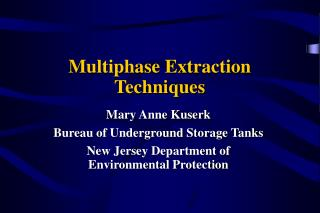 Multiphase Extraction Techniques