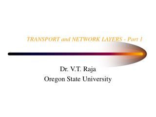 TRANSPORT and NETWORK LAYERS - Part 1