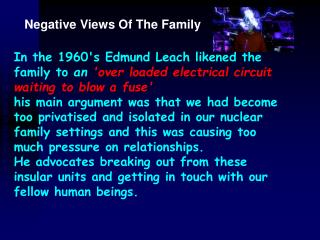 Negative Views Of The Family