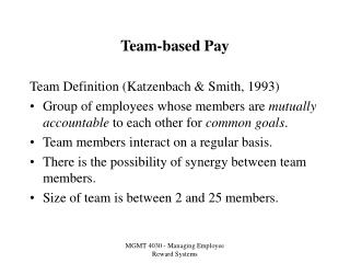 Group based Pay