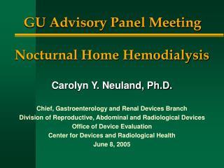 GU Advisory Panel Meeting