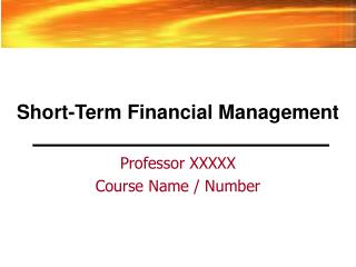 Transient Financial Management
