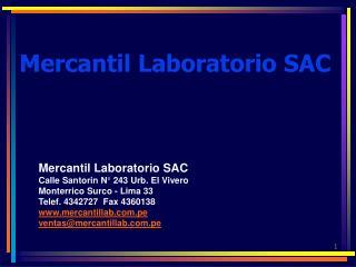 Mercantil Laboratorio SAC