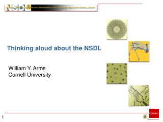 Building the NSDL William Y. Arms Cornell University