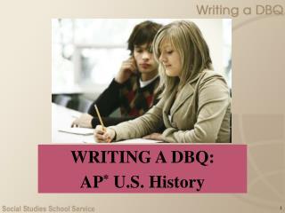 Composing A DBQ: AP U.S. History