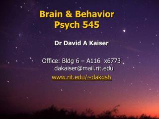 Mind Behavior Psych 545