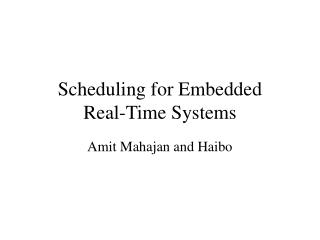 Booking for Embedded Real-Time Systems