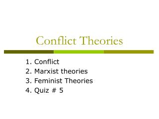 Struggle Theories