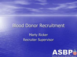 Blood Donor Recruitment