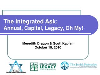 The Integrated Ask: Annual, Capital, Legacy, Oh My