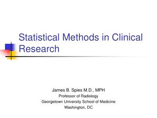 Factual Methods in Clinical Research