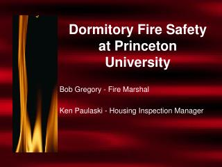 Residence Fire Safety at Princeton University