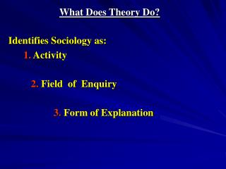 What Does Theory Do
