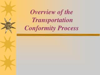 Diagram of the Transportation Conformity Process