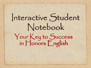 Intuitive Student Notebook
