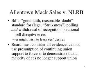 Allentown Mack Sales v. NLRB