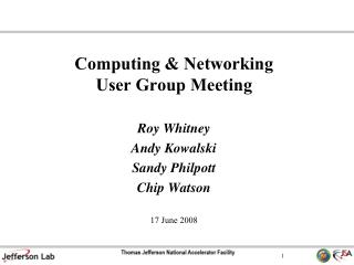 Processing Networking User Group Meeting