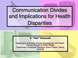 Correspondence Divides and Implications for Health Disparities