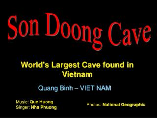 Child Doong Cave