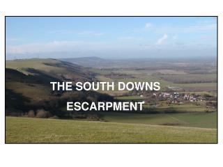 THE SOUTH DOWNS ESCARPMENT