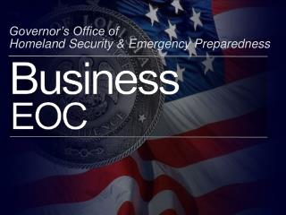 Senator s Office of Homeland Security Emergency Preparedness