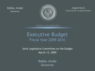 Official Budget Fiscal Year 2009-2010