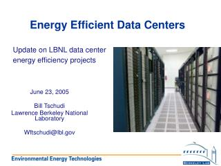 Vitality Efficient Data Centers