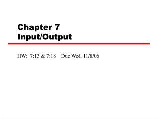 Part 7 Input